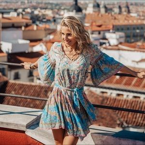 Spell and the Gypsy Oasis Mini dress in Opal, XS